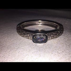 Beautiful Silver Bracelet with Aqua stone !